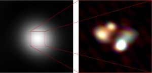 Details in the Structure of a distant Quasar