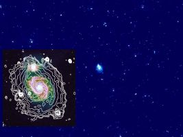 Swirling Electrons in the Whirlpool Galaxy