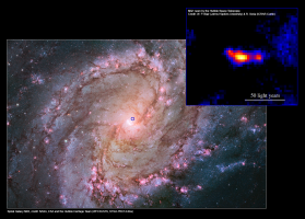 Discovery of Super‑Powered Black Hole in Nearby Galaxy M83